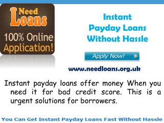 Instant Same Day Loans Avail Online Without Hassle, Instant