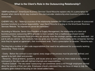 What is the Client's Role in the Outsourcing