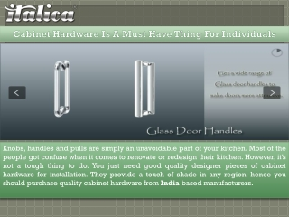 Cabinet Hardware Is A Must Have Thing For Individuals