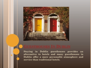 Guest Houses In Dublin