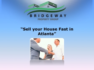 Sell your House Fast in Atlanta