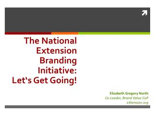 The National Extension  Branding  Initiative: Let's Get Going !