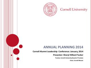 ANNUAL PLANNING 2014