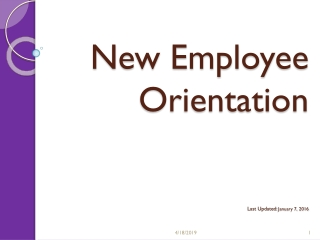 New Employee Orientation Last Updated:  April 14, 2014