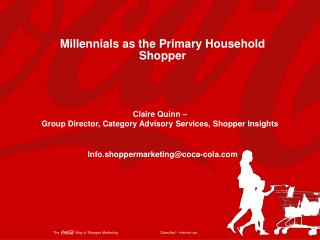 Millennials  as the Primary Household Shopper