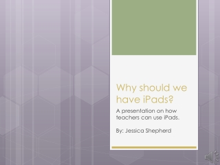 Why should we have iPads?