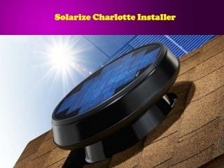 Solarize Charlotte Installer
