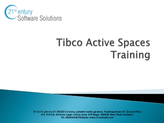 Tibco Active spaces Training