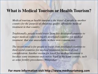 Top 5 - Most Popular Medical Tourism Destinations
