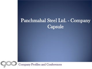 Panchmahal Steel Ltd.- Company Capsule