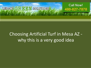 Choosing artificial turf in Mesa AZ