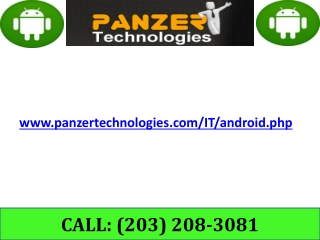 Android developer India - Panzer Technologies