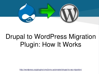 Drupal to WordPress Migration Plugin. How It Works