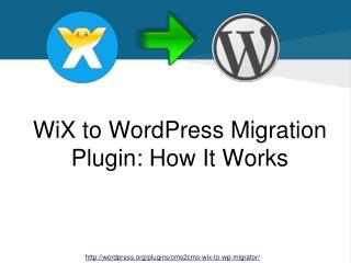 WiX to WordPress Migration Plugin: How-It-Works