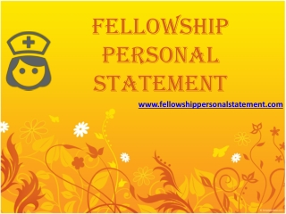 Fellowship Personal Statement