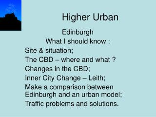 Higher Urban