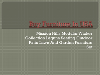 Online Furniture in USA