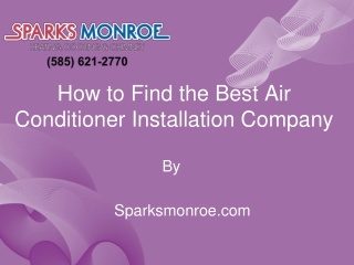 How to Find the Best Air Conditioner Installation Company