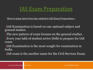 General Studies topics for IAS Exam Preparation
