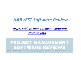 HARVEST Project Management Software Reviews - www.project-ma