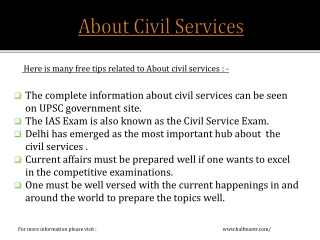 The Knowledge Network about Civil Services