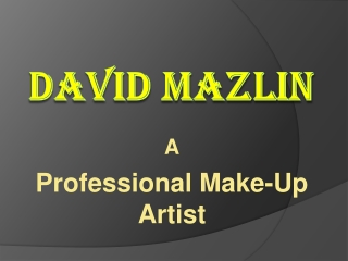 David Mazlin - Make-Up Artist