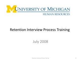 retention interview process training