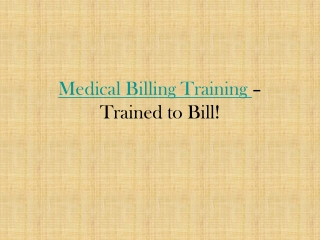 Medical Billing Training in Hyderabad