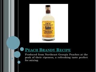 Peach Brandy Recipe