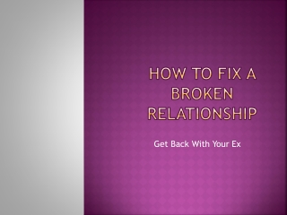 How to Fix a Broken Relationship Starting With You