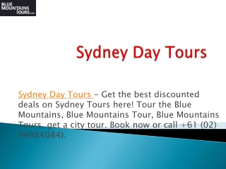 Top Reliable Blue Mountains Tours Service in Sydney