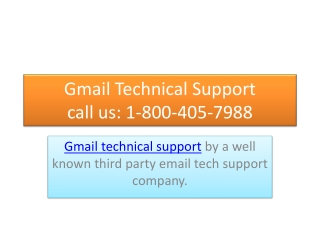 Gmail customer support number 1-800-405-7988