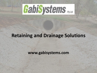 Gabi Systems - Retaining and Drainage Solutions