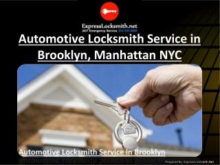 Automotive Locksmith Service in Brooklyn, Manhattan NYC