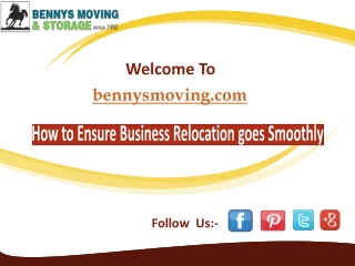 How to Ensure Business Relocation goes Smoothly