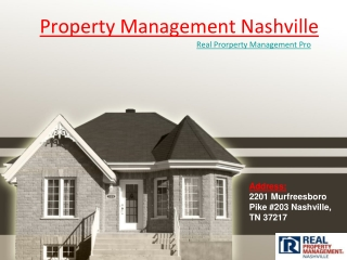 Effective Property Management in Nashville for current Situation