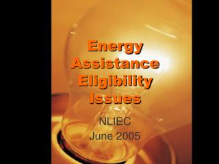 Energy Assistance Eligibility Issues