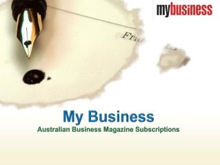 My Business - Australian Business Magazine Subscriptions