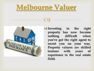 Melbourne Valuations