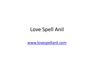 Love Spell by Anil