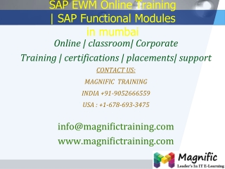 SAP EWM Online Training  SAP Functional Modules in mumbai