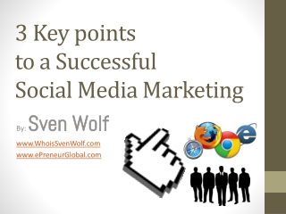 3 Key points to a Successful Media Marketing