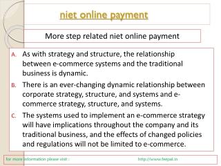 How to implement niet online payment