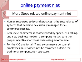 News and event for online payment niet