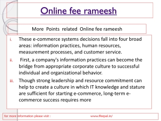 online payment services of online fee rameesh