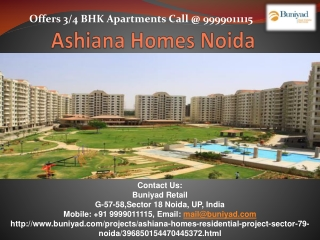 Luxurious Apartments in Ashiana Homes Noida