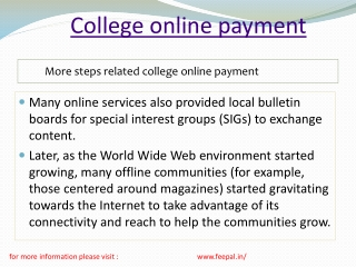 Tips and advice for college online payment