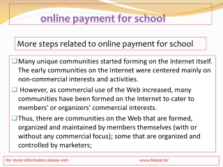 The benefit of online payment for school