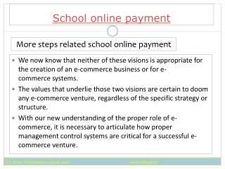 How to choose the best way of  school online  payment