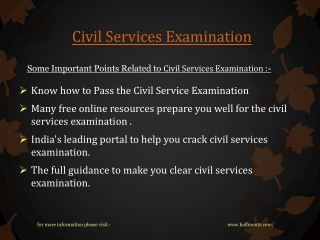 Get online Books for civil services examination
